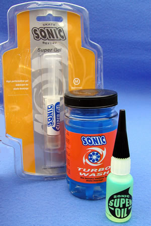 Sonic bearings wash, super oil and super gel
