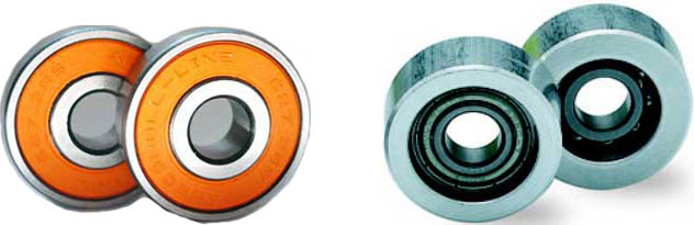 Roll line skate bearings